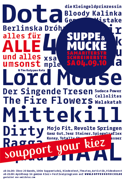 Suppe&Mucke Plakat Bands