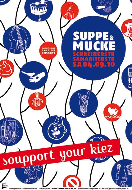 Suppe&Mucke Plakat illustriert