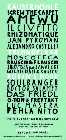Flyer Soliparty Mensch Meier (Rückseite)